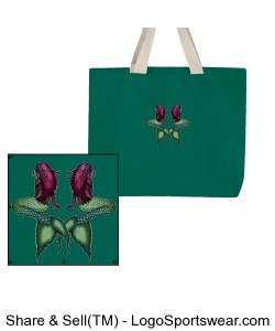 Large green double mermaid tote Design Zoom